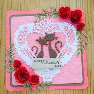ハンドクラフトフェスタ トラちゃんの紙工房 バレンタインカード