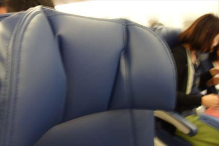 デルタ航空のシートの様子