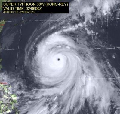 台風25号の台風の目