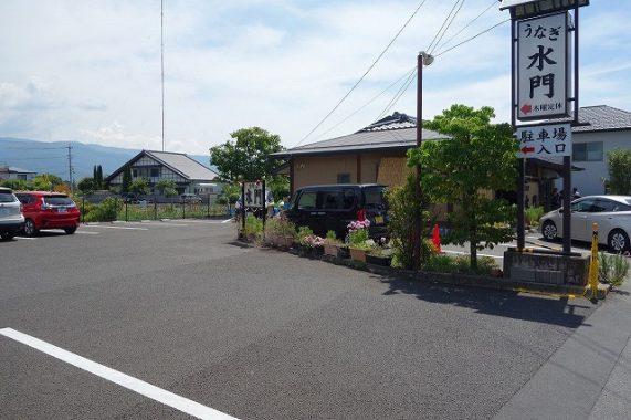 岡谷うなぎ水門の場所